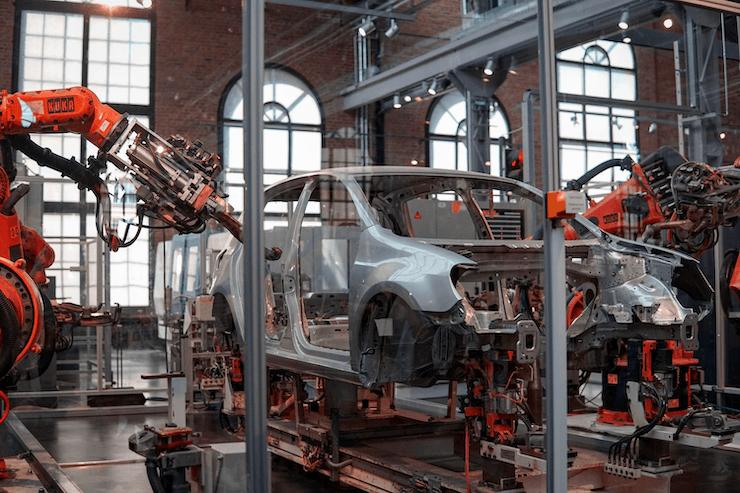 Car manufacturing in progress