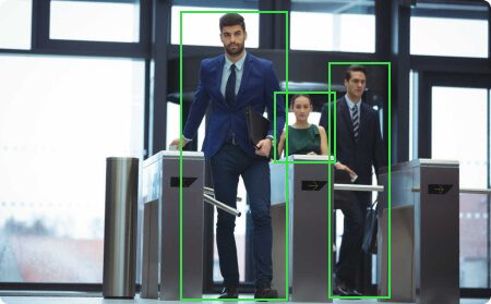 Example of face recognition algorithm