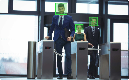 Face recognition algorithm example