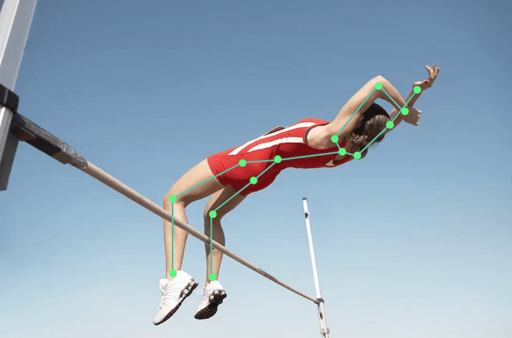 High jumps with the use of pose estimation