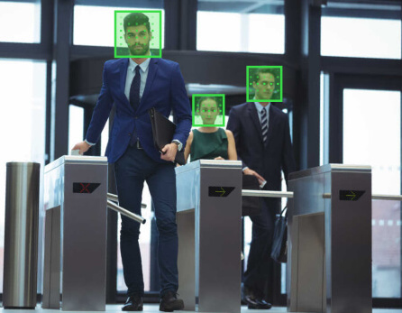 Face recognition system detects people at the enterance