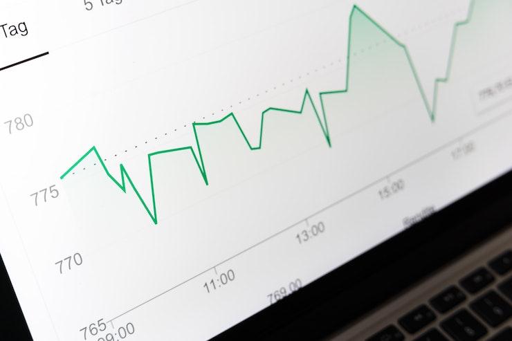 a dashboard that shows a graph