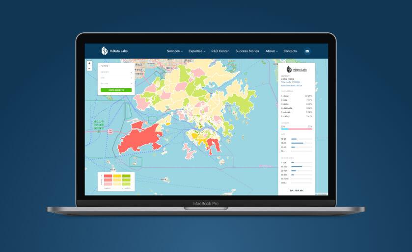 Interactive map of Hong-Kong