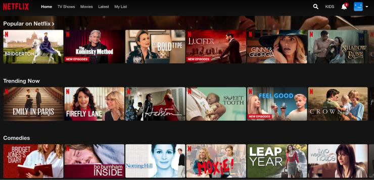 Personalized content Netflix